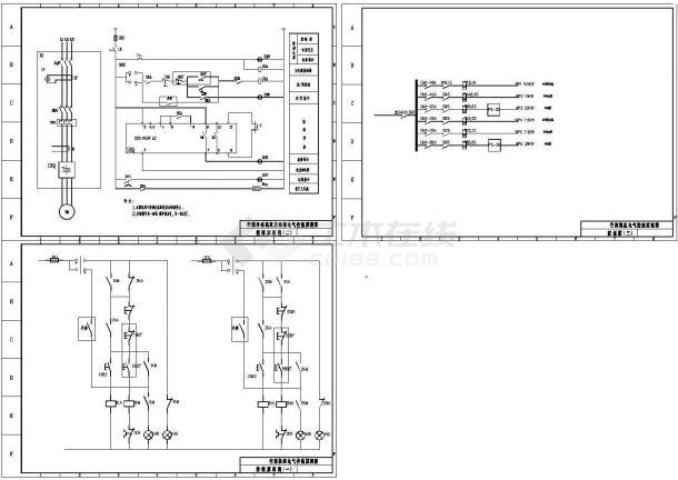 空调机组电气控制原理图,包含控制原理图-图二
