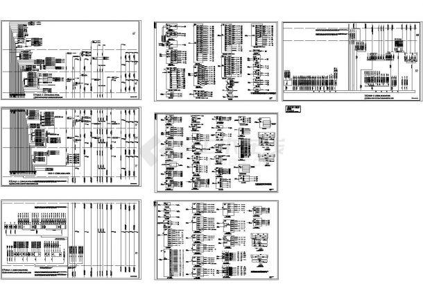 苏州商场动力及照明系统设计施工cad图纸,共七张-图一