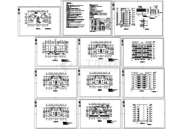 某市设计院住宅楼建筑设计施工图-图一