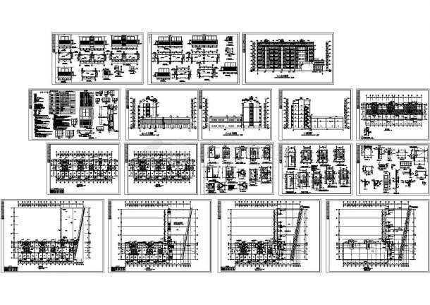 某市豪华小区多层框架结构住宅楼建筑施工图-图一