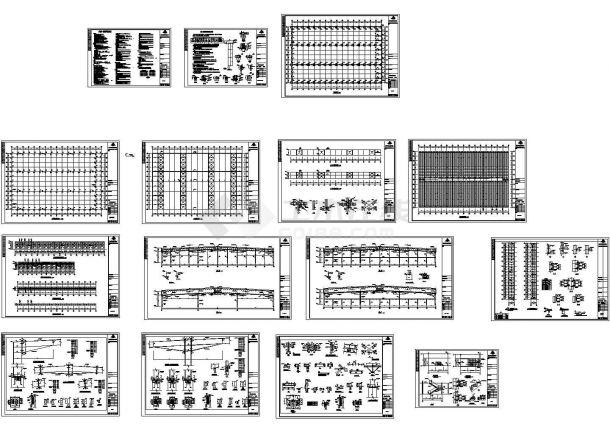 某市电力公司钢结构工程施工图-图一