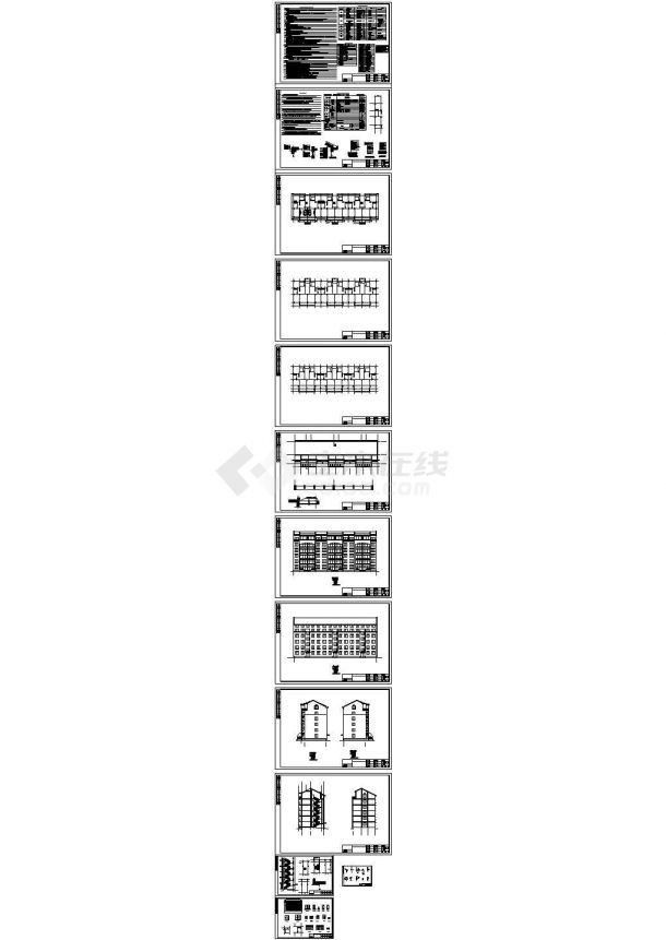某6层框架结构住宅楼结构设计图 cad版-图一