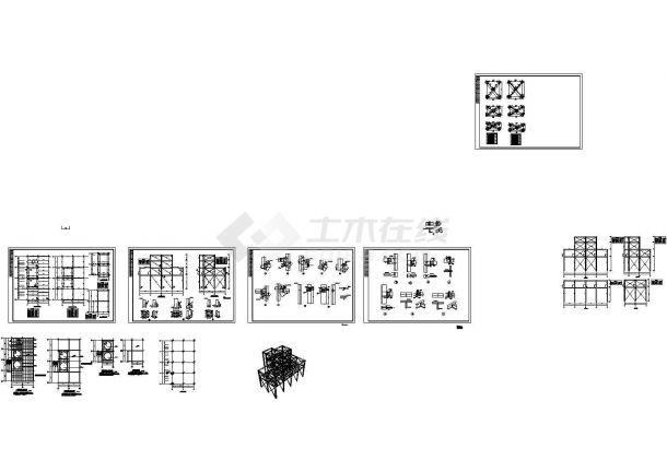 某四层钢框架结构工作平台设计cad全套结构施工图 (甲级院设计)-图一