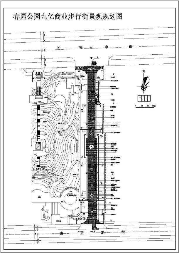 某商业步行街景观规划图cad版-图一