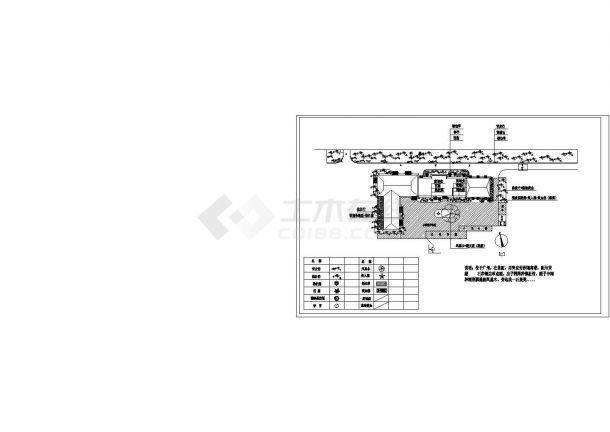 某修理厂绿化设计平面CAD图纸设计-图二