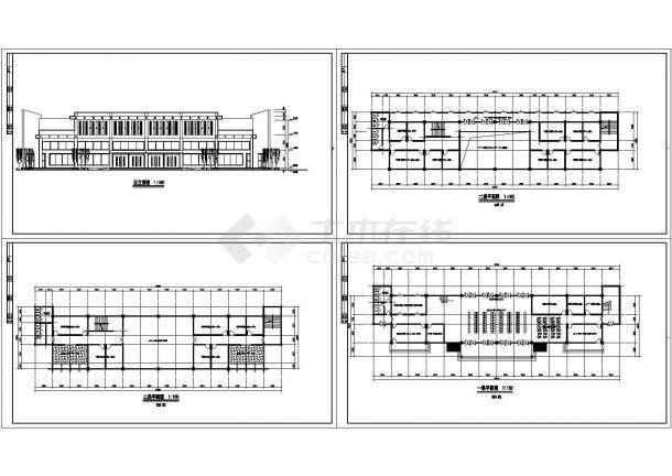 三层1800平米汽车站建筑方案设计图-图一