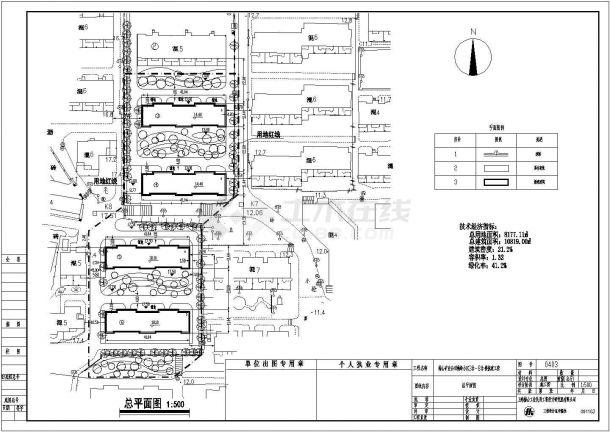 某六层住宅楼建筑方案设计图CAD版-图一
