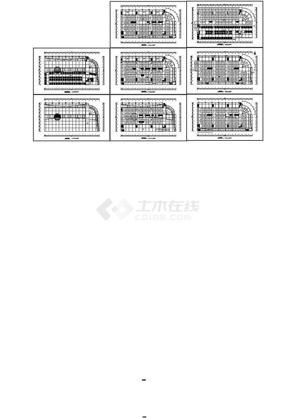 某地市场建筑方案设计图-图一