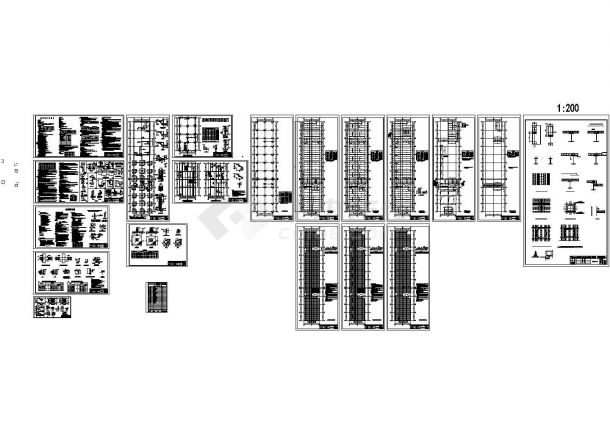 某钢筋桁架楼承板钢框架结构多层综合楼设计cad全套结构施工图纸(含设计说明)-图二