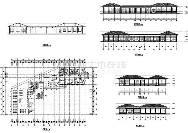 某市大型食堂全套建筑设计施工图-图一