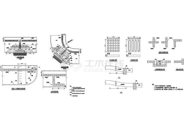 典型城市道路人行道无障碍标准cad施工图纸(甲级院设计)-图二