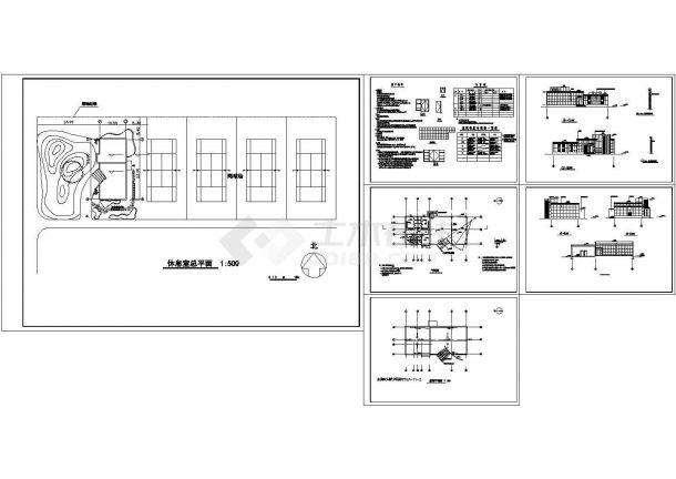 某市国电南自会所建筑设计施工图-图一