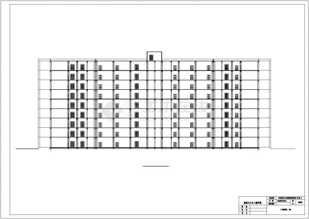 9层市政府办公大楼建筑结构设计施工cad图纸(含计算书)-图一
