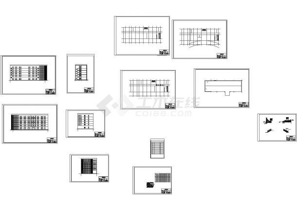 6层钢框架结构办公楼建筑结构设计施工cad图纸(含计算书,共二十张)-图一