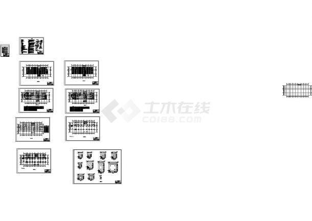 6层钢框架结构办公楼建筑结构设计施工cad图纸(含计算书,共二十张)-图二