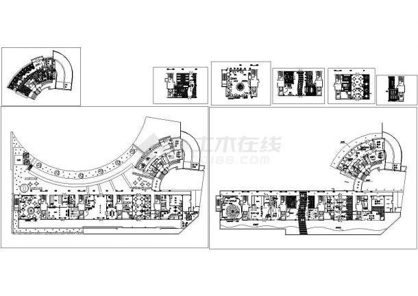 商场整体平面布置图.cad施工图设计-图二