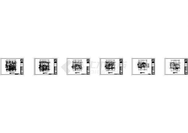 [深圳]联排叠拼多户型高档住宅小区给排水竣工图纸(太阳能系统 中水系统)-图一