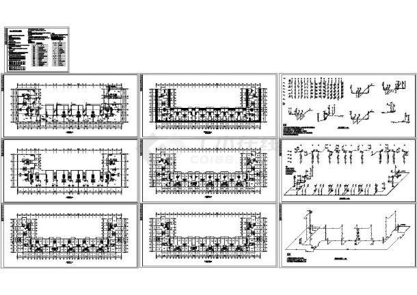 6+1阁楼层12017.65㎡凹型商住楼给排水施工图(设计总说明)-图一