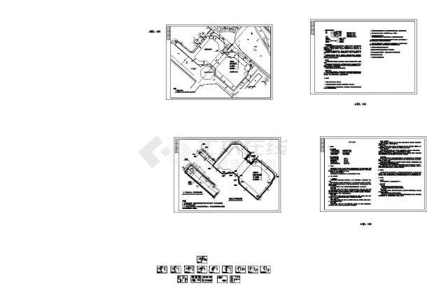 [山东]双排钻孔灌注桩结合预应力锚杆基坑支护施工图,19张图纸-图一