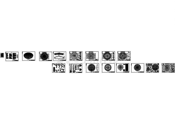 [重庆]桁架与网架混合结构重点大学体育馆钢结构施工图(设计说明)-图一