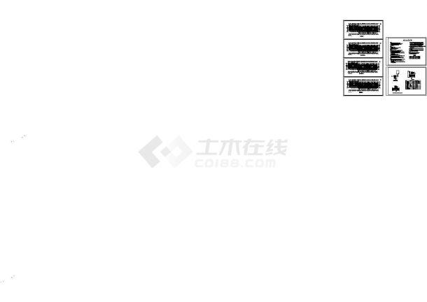 六层住宅地板辐射采暖设计cad施工图-图一