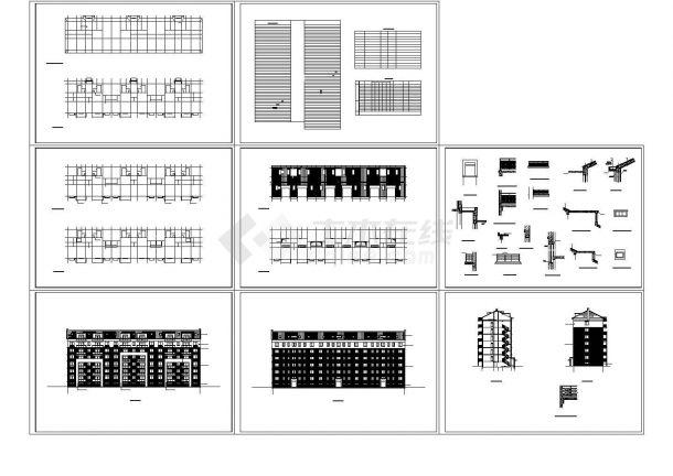 多层框架结构住宅楼全套cad图纸-图一