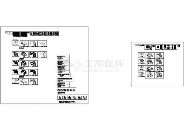 某多层框架结构办公楼室内装修设计cad全套施工图纸(含设计说明,含水电设计)-图二