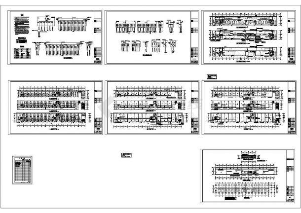 三层商场电气施工cad图(含强弱电设计)-图二