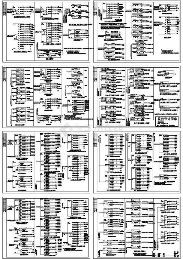 某五层商场地下层配电系统设计cad图,共八张-图一
