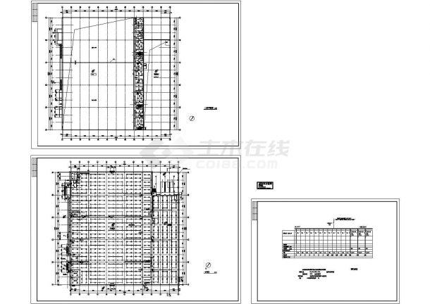 某二层超市电气施工cad图(含照明及系统图)-图一