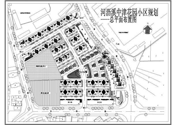 某花园小区规划总平面布置图dwg-图一