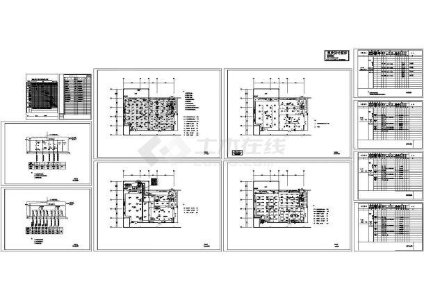 某公司净化工程电气图纸dwg-图一