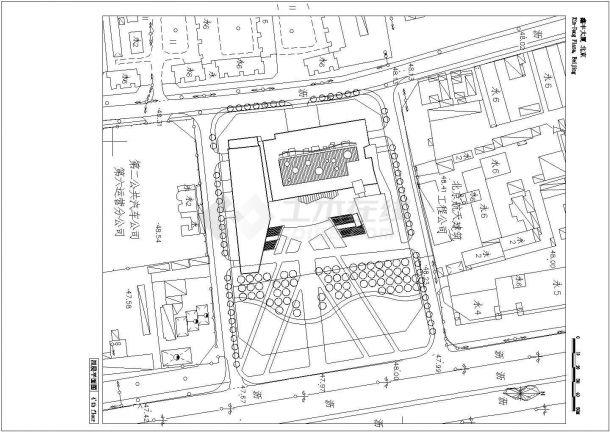 某地丰台鑫丰大厦全套建筑设计cad图纸(含平面布置图)-图一