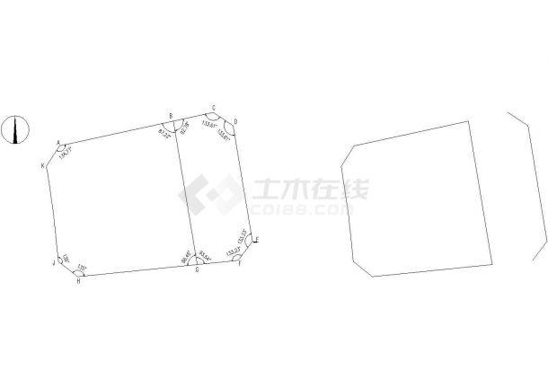 某地丰台鑫丰大厦全套建筑设计cad图纸(含平面布置图)-图二