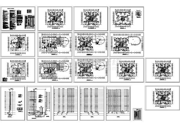 32层商住楼给排水设计施工图(总说明)-图一