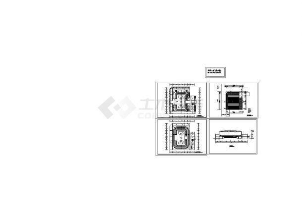 2层5800平米体育馆建筑方案设计图 【1-2层平面 总平 1剖面】-图一