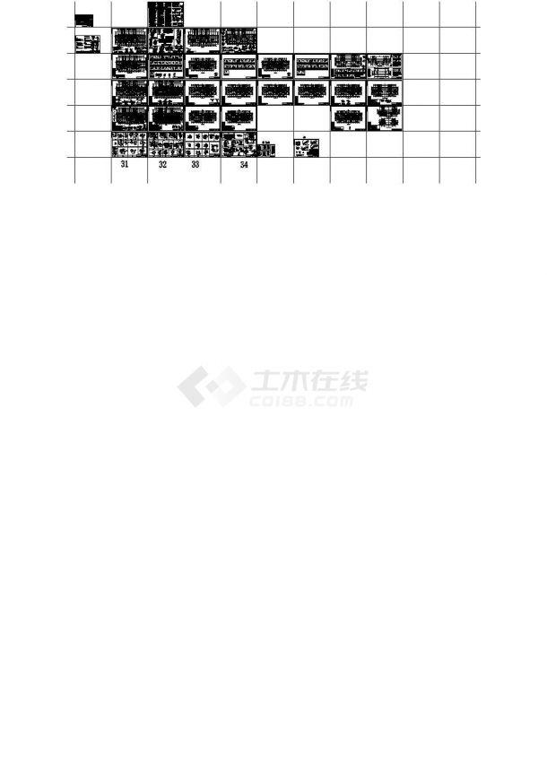 剪力墙结构住宅楼结构施工图(25层桩基础)cad版-图一