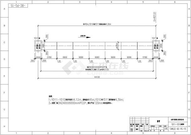 某科技园PCCP排管 系统施工图Cad设计图(绘图细致)-图二