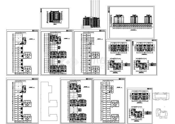 某地沿街多层住宅楼建筑设计施工图-图一