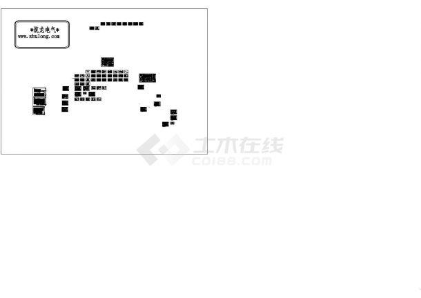 [广东]知名三级甲等医院变配电系统施工图纸(地下四层)(CAD,44张图纸)-图一