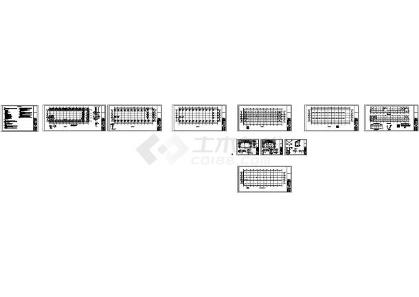 日光温室生态园大棚、展厅建筑结构全套图(CAD,40张图纸)含钢结构设计说明-图二