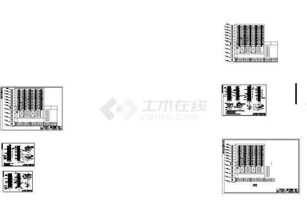 某酒店式公寓室外空调护栏格栅设计cad全套方案图(标注详细)-图一