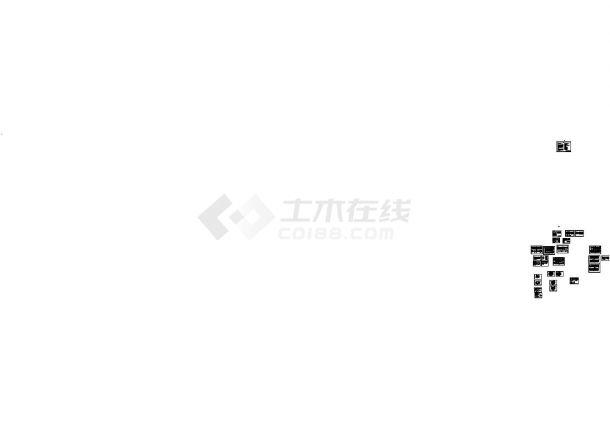 仿古建筑万寿宫建筑设计施工cad图纸,共二十六张-图一