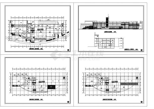 3层会展中心建筑方案设计图(标注详细)-图一