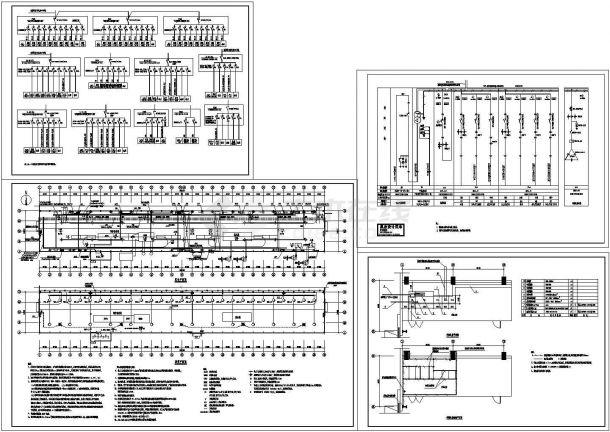 厂房设计_工业厂房电气施工cad图,共四张-图二
