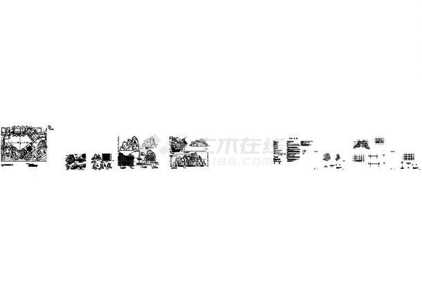 某公园假山塑石(角钢龙骨+钢丝网)设计cad全套施工图(含设计说明)-图一