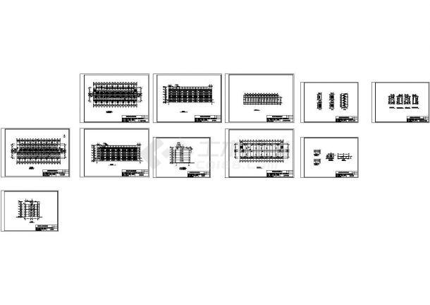 4723平米五层高校学生公寓楼建筑结构设计施工cad图纸(含计算书)-图一