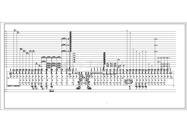 某地大厦低压配电系统设计cad图纸-图二