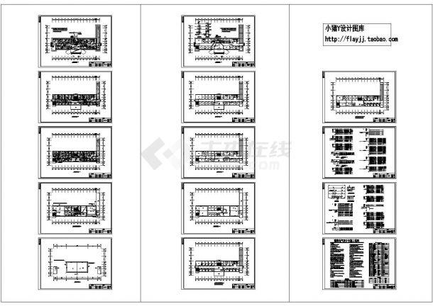4层乡镇医院电施设计图纸-图一