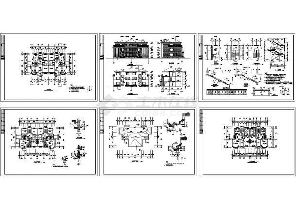 某高档双拼别墅建筑设计cad全套施工方案图(甲级院设计)-图二